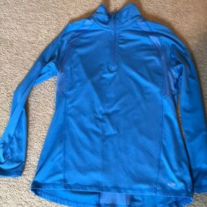 Blue athletic pullover